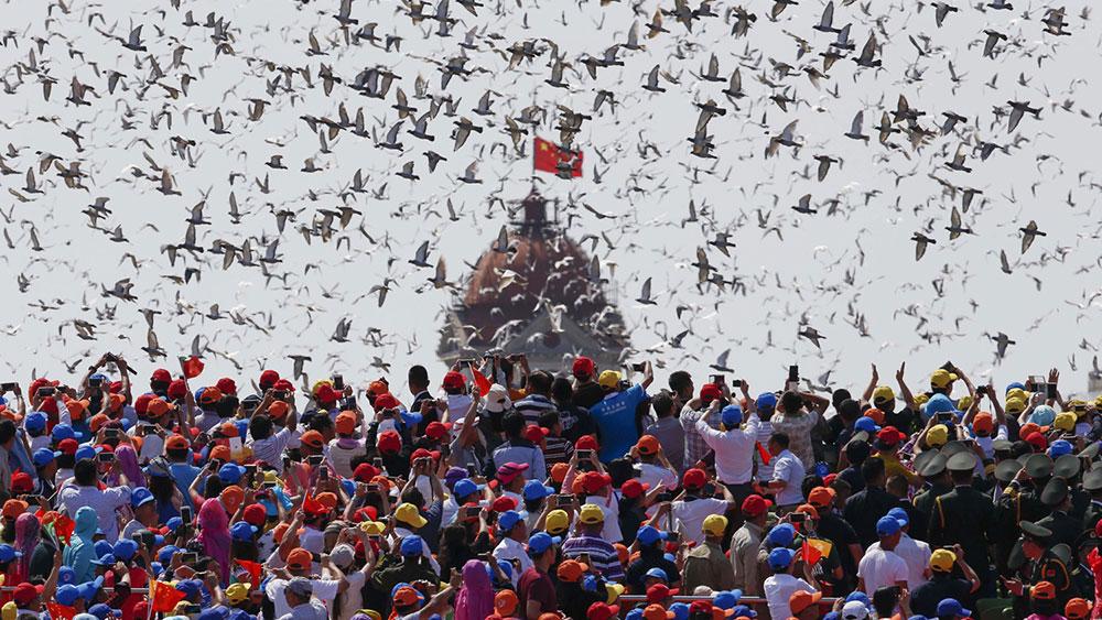 Vojna parada u Pekingu, 3. septembar 2015, foto: Rolex Dela Pena/AP