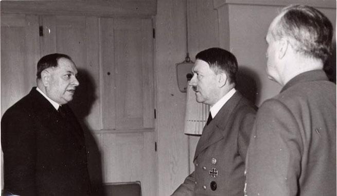 Milan Nedić i Adolf Hitler