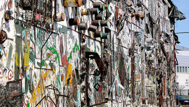 Zgrade pretvorene u umetničke instalacije, Detroit