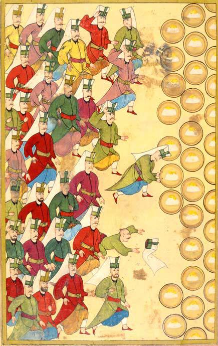 Gozba za janjičare, otomanska minijatura, Surname-ı Vehbi, Wikipedia