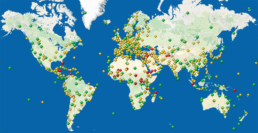 Mapa svetske kulturne baštine, UNESCO