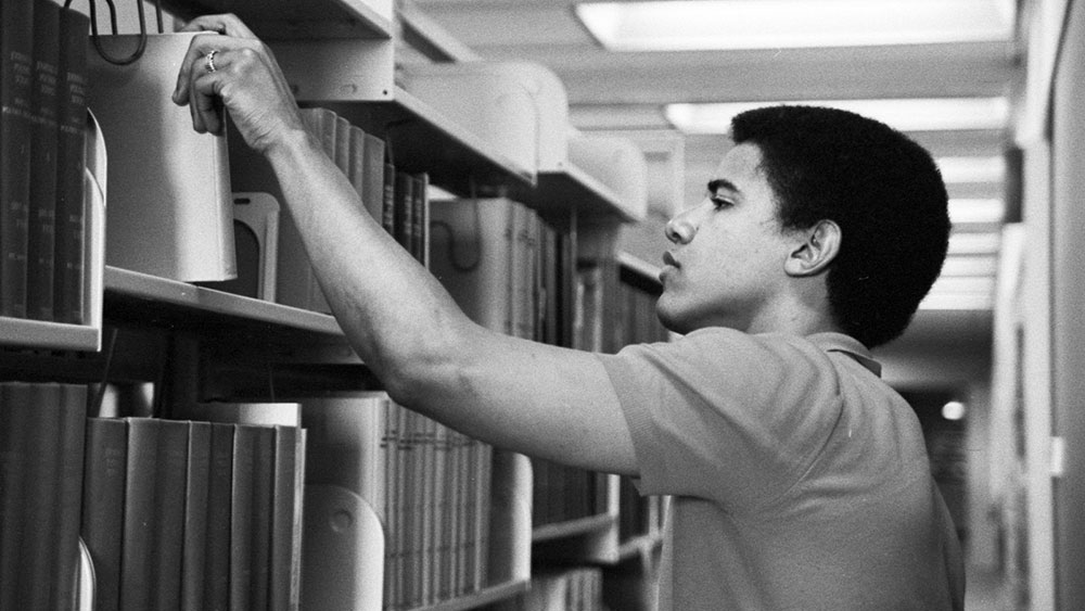 Barack Obama, Occidental College 1981, foto: Thomas Grauman/Corbis