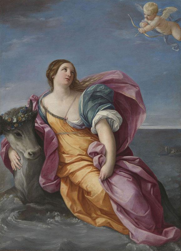 Guido Reni, Silovanje Europe, 1639, National Gallery, London, foto: Wikimedia Commons