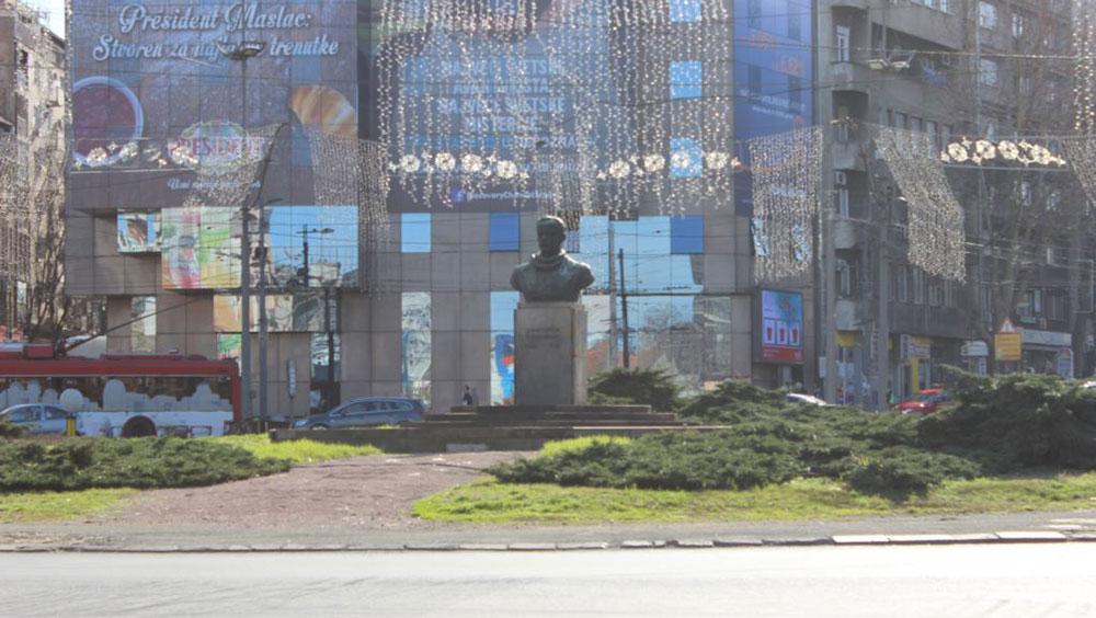 Trg Slavija, Beograd, foto: Ognjen Zorić (RFE/RL)
