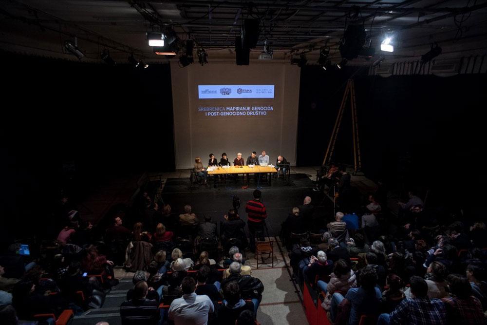 Public lecture on Srebrenica in Belgrade, photo: CZKD