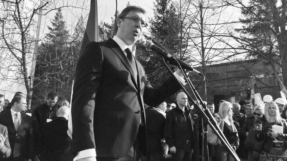 Aleksandar Vzčić drži govor