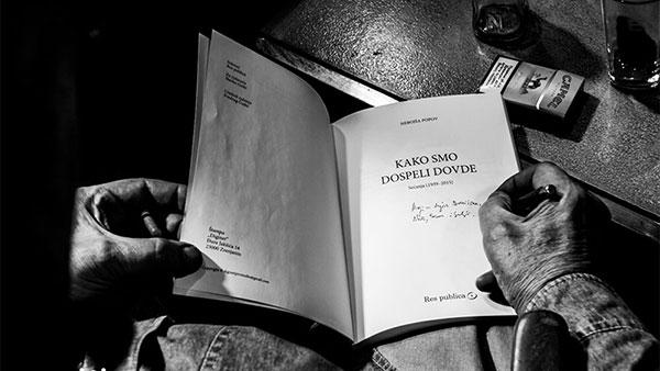 Nebojša Popov, potpisivanje poslednje knjige