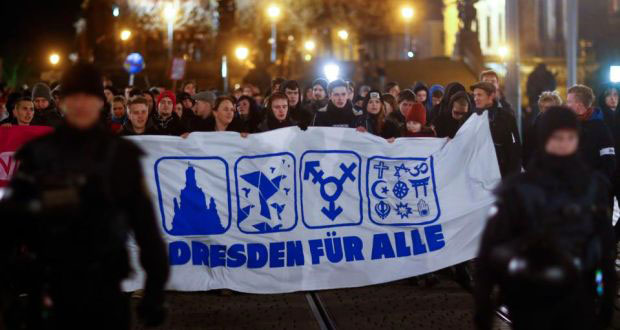 """Drezden za sve"", anti-Pegida protesti u Drezdenu, Nemačka, foto: Hannibal Henschke/Reuters"