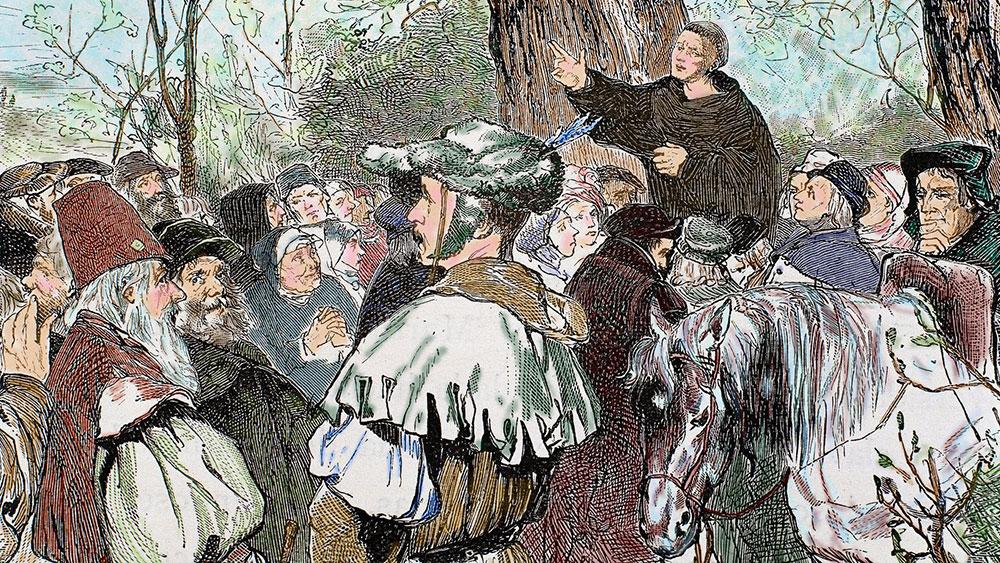 Martin Luter propoveda, detalj sa gravire 1882, foto: UIG via Getty Images