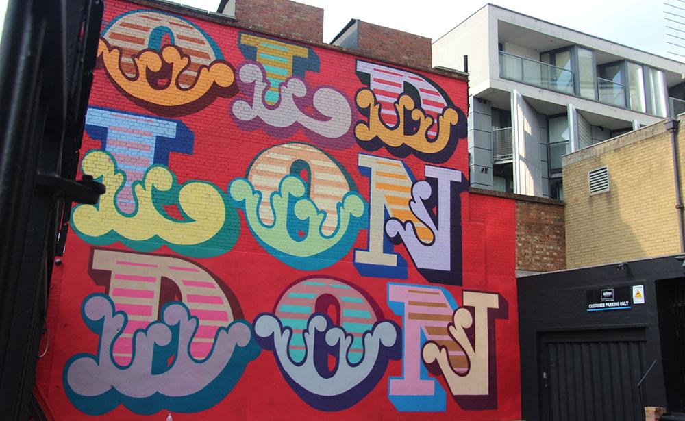 Miljana Radivojević, East London street art