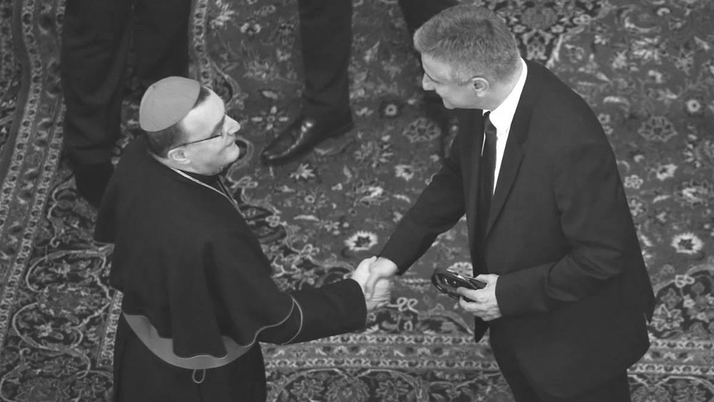 Kardinal Josip Bozanić i Tomislav Karamarko, foto: Igor Kralj/Pixsell