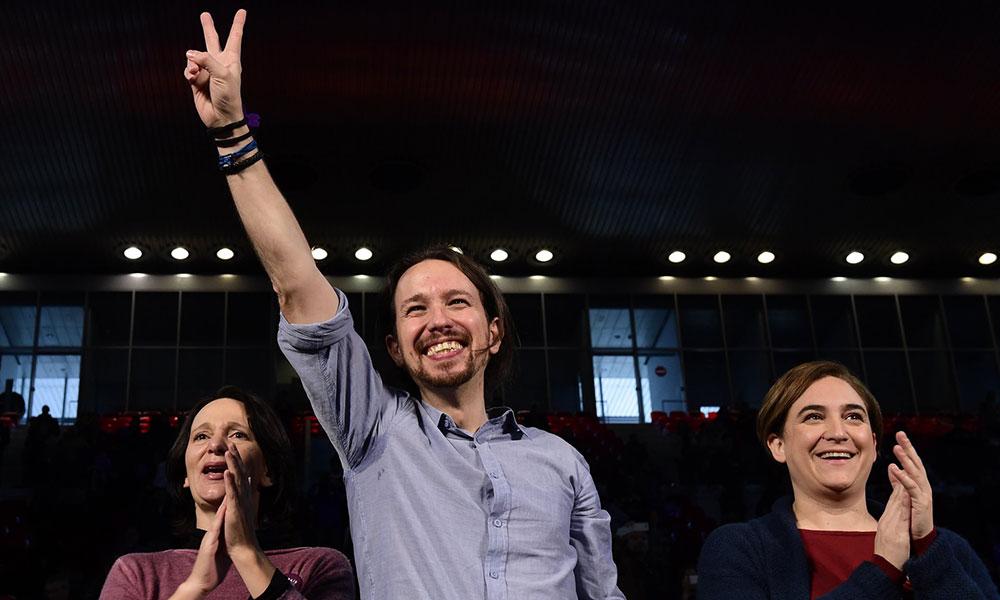 Lider Podemosa Pablo Igleasias, foto: Javier Soriano/AFP/Getty Images