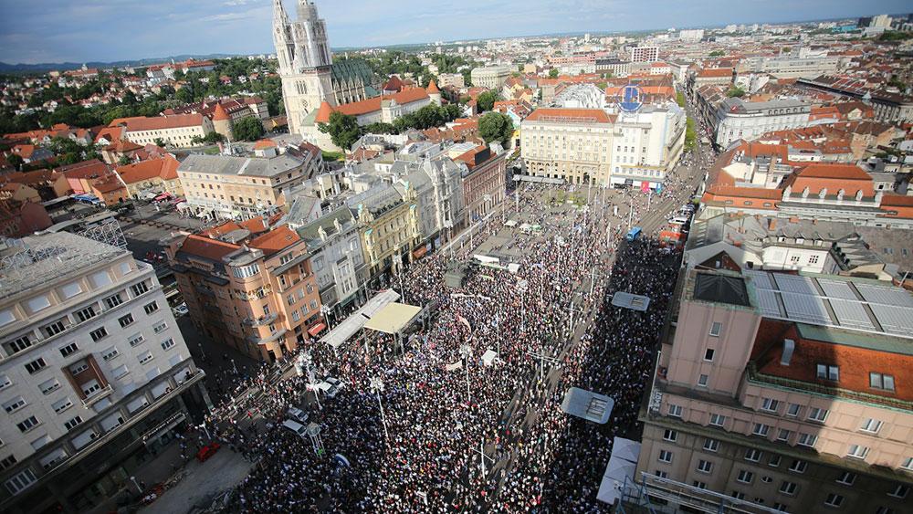 Trg bana Jelačića u Zagrebu, 1. juni 2016, foto: Fah