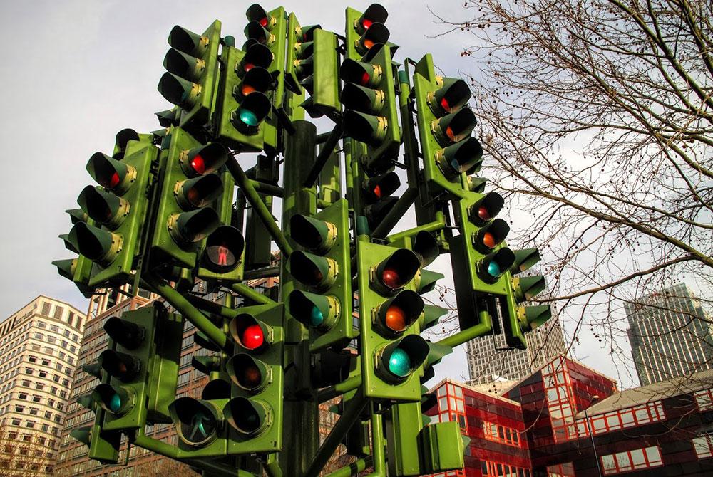 Drvo semafor / Traffic light tree, Pierre Vivant, London, foto: Neda Radulović-Viswanatha