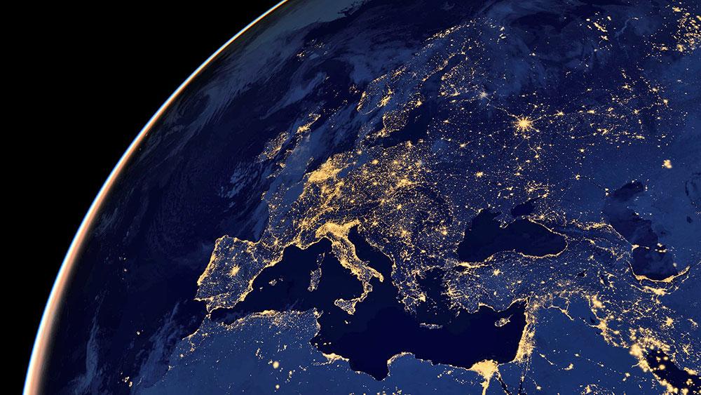 Evropa iz svemira