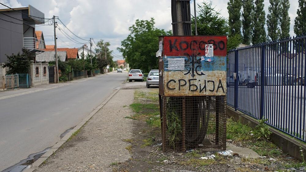 natpis Kosovo je Srbija