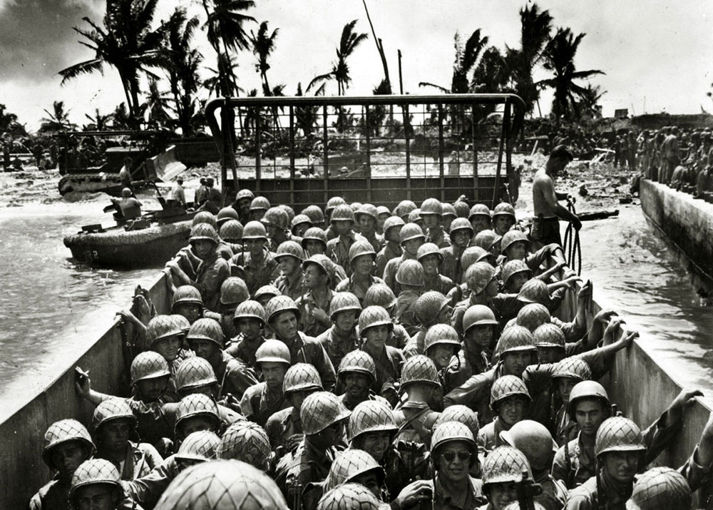 Američke trupe na Pacifiku tokom II svetskog rata, foto: Paul Popper/Popperphoto/Getty Images