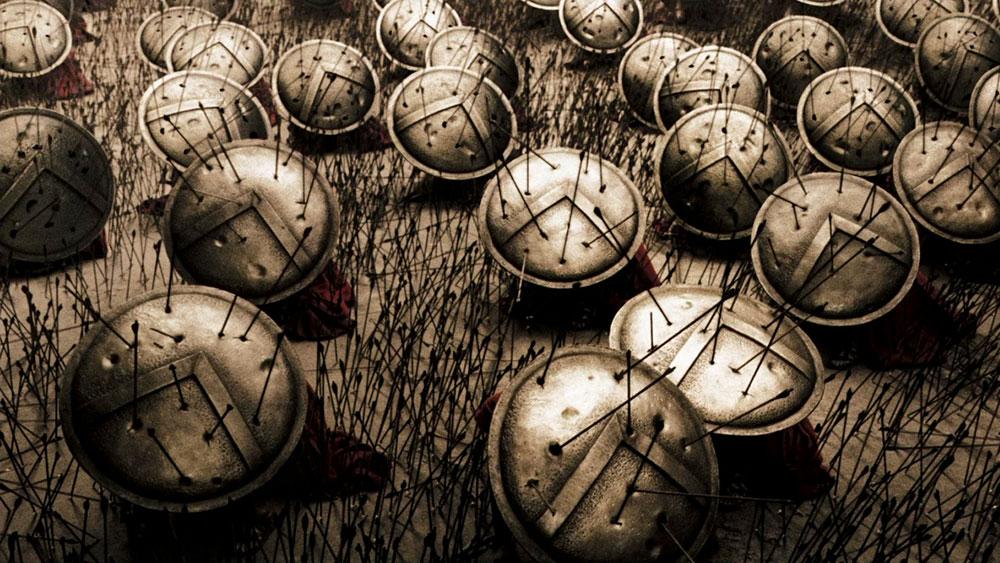 """Slovo Lambda na štitovima iz filma """"300 – Bitka kod Termopila"""""""