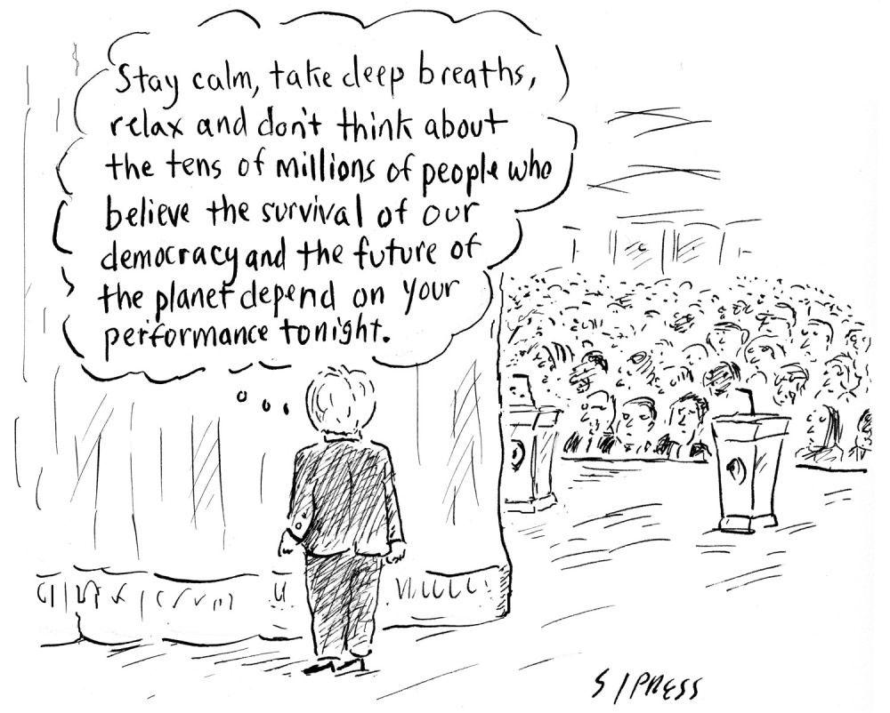 Hilari Klinton pred prvu predsedničku debatu, The New Yorker