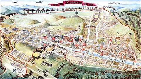 Mapa Opsade Sarajeva U Britanskoj Nacionalnoj Biblioteci Fama