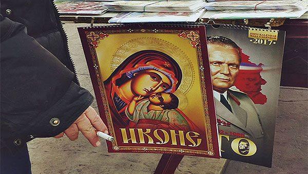 kalendari na prodaju za 2017, ikone i Tito