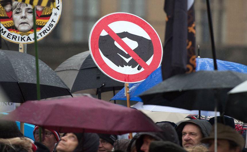 Protesti Pegide u Drezdenu, foto: DPA
