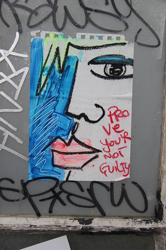 """""""Dokaži da nisi kriva"""", foto: Miljana Radivojević, East London street art"""