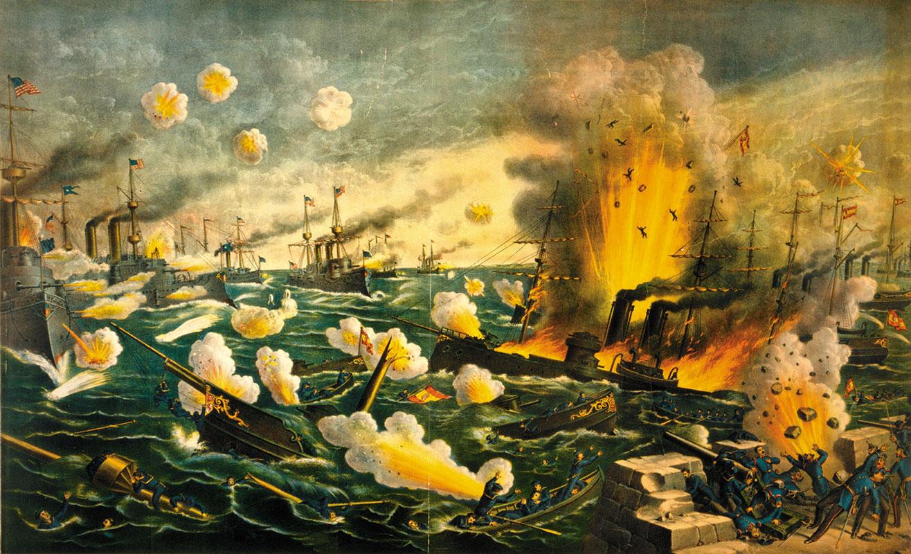 Velika bitka u Manila zalivu, špansko-američki rat, maj 1898, Kurz & Allison/Library of Congress
