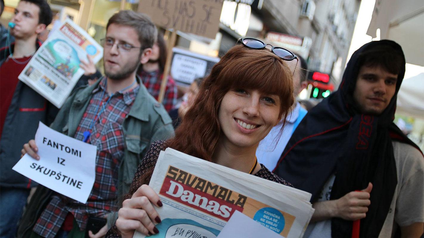 Protesti u Nišu 25. aprila