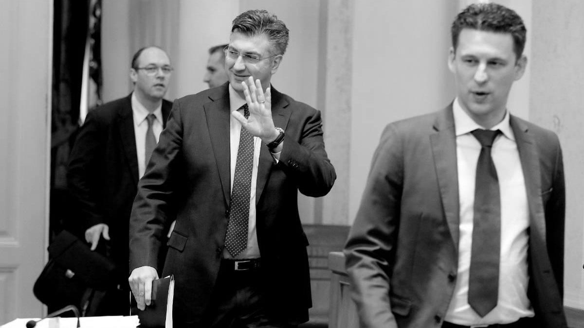 Plenković i Petrov, foto: Patrik Macek/PIXSELL