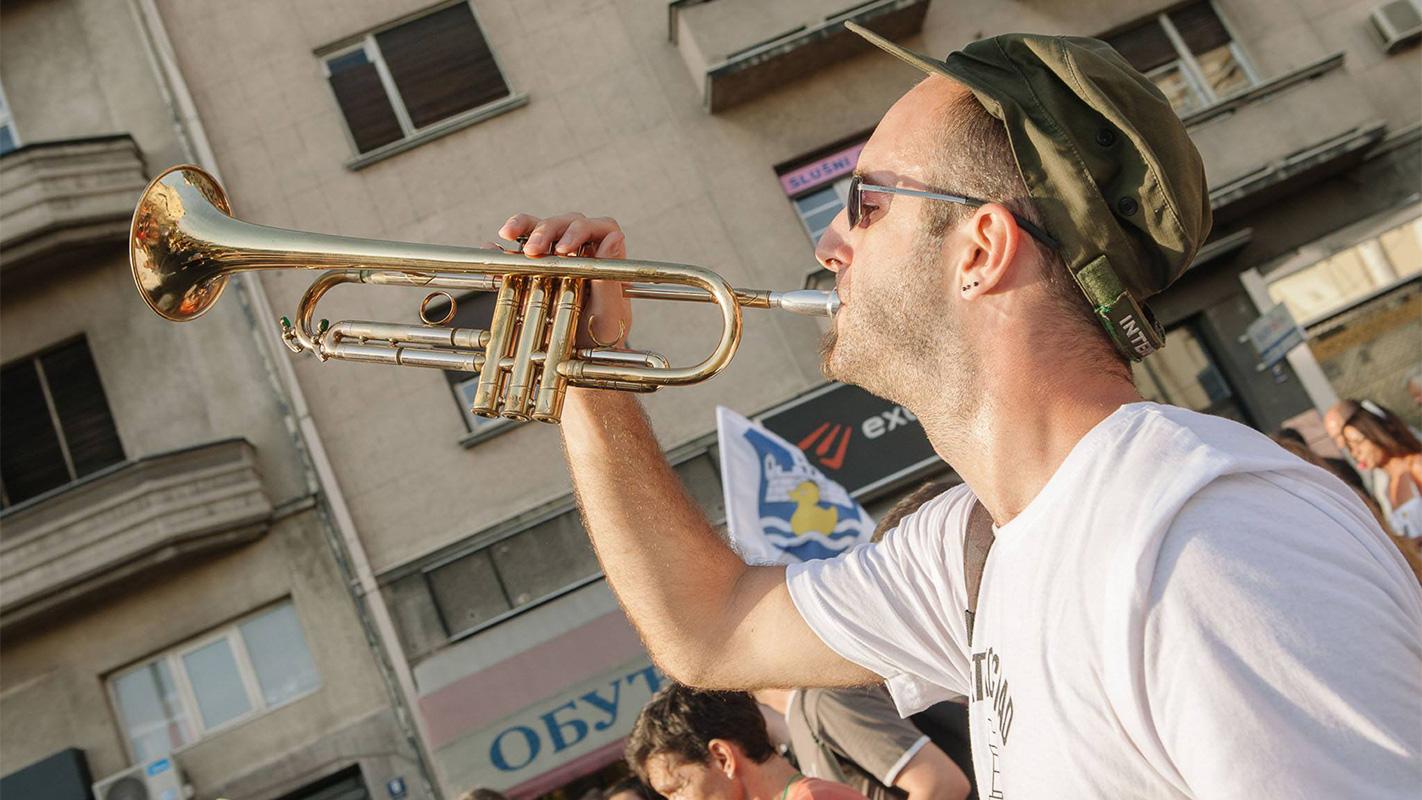 Sa protesta Ne da(vi)mo Beograd