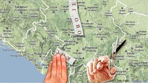 Makaze seku Kosovo sa mape Srbije