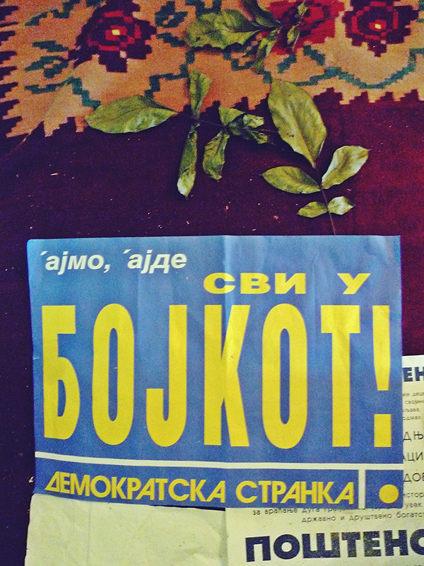 Bojkot izbora 1997, foto: Predrag Trokicić