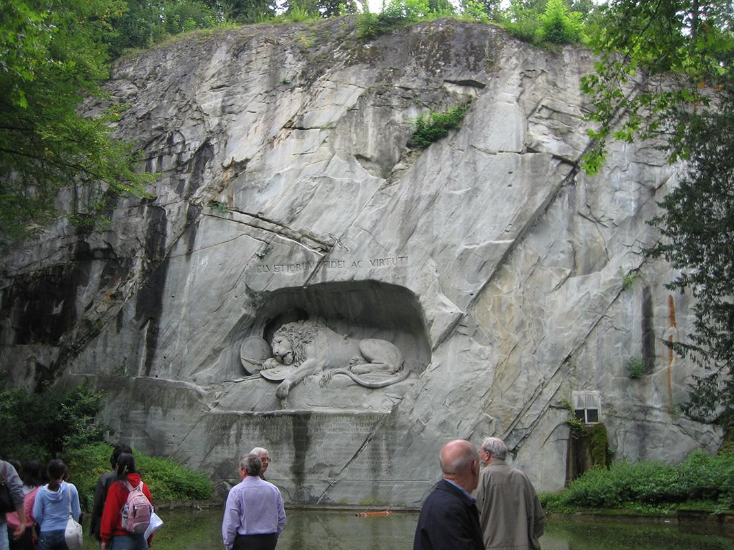 Umirući lav iz Lucerna, foto: Toni Stanković