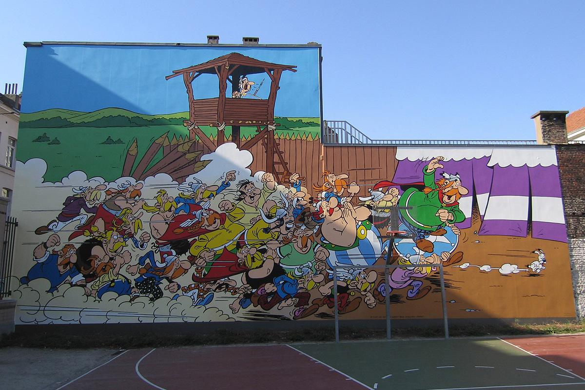 Asterix, mural u Briselu, foto: Christian Koehn (fragwürdig), GFDL