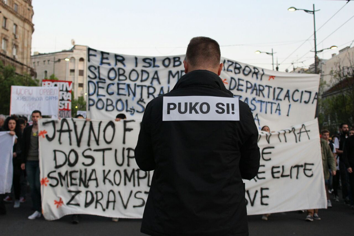 Protesti Protiv diktature, april 2017, foto: Darija Bađul