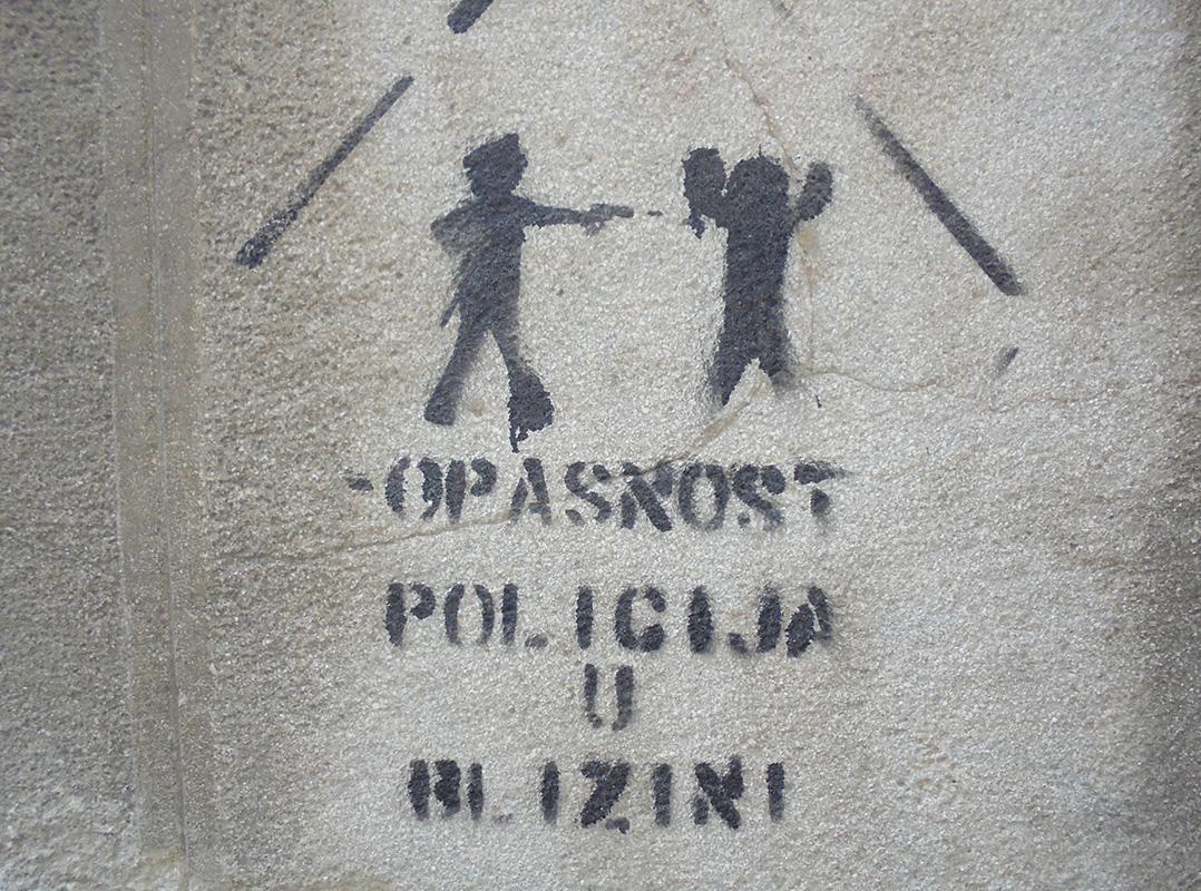 Danger – police nearby, photo: Slavica Miletic