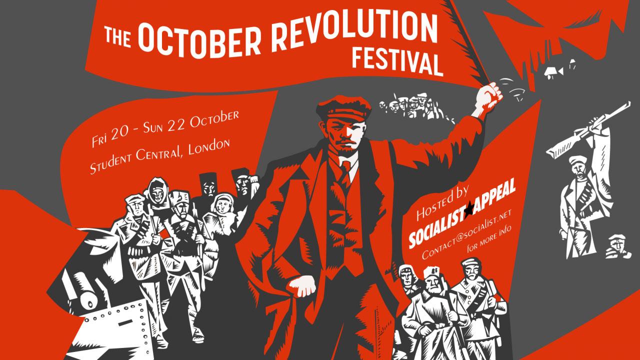 Plakat za festival Oktobarske revolucije ove jeseni u Londonu