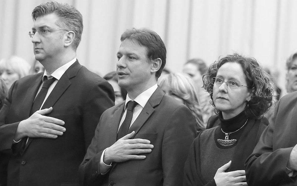 Plenković, Jandroković i Obuljen Koržinek, foto: Robert Anić/PIXSELL