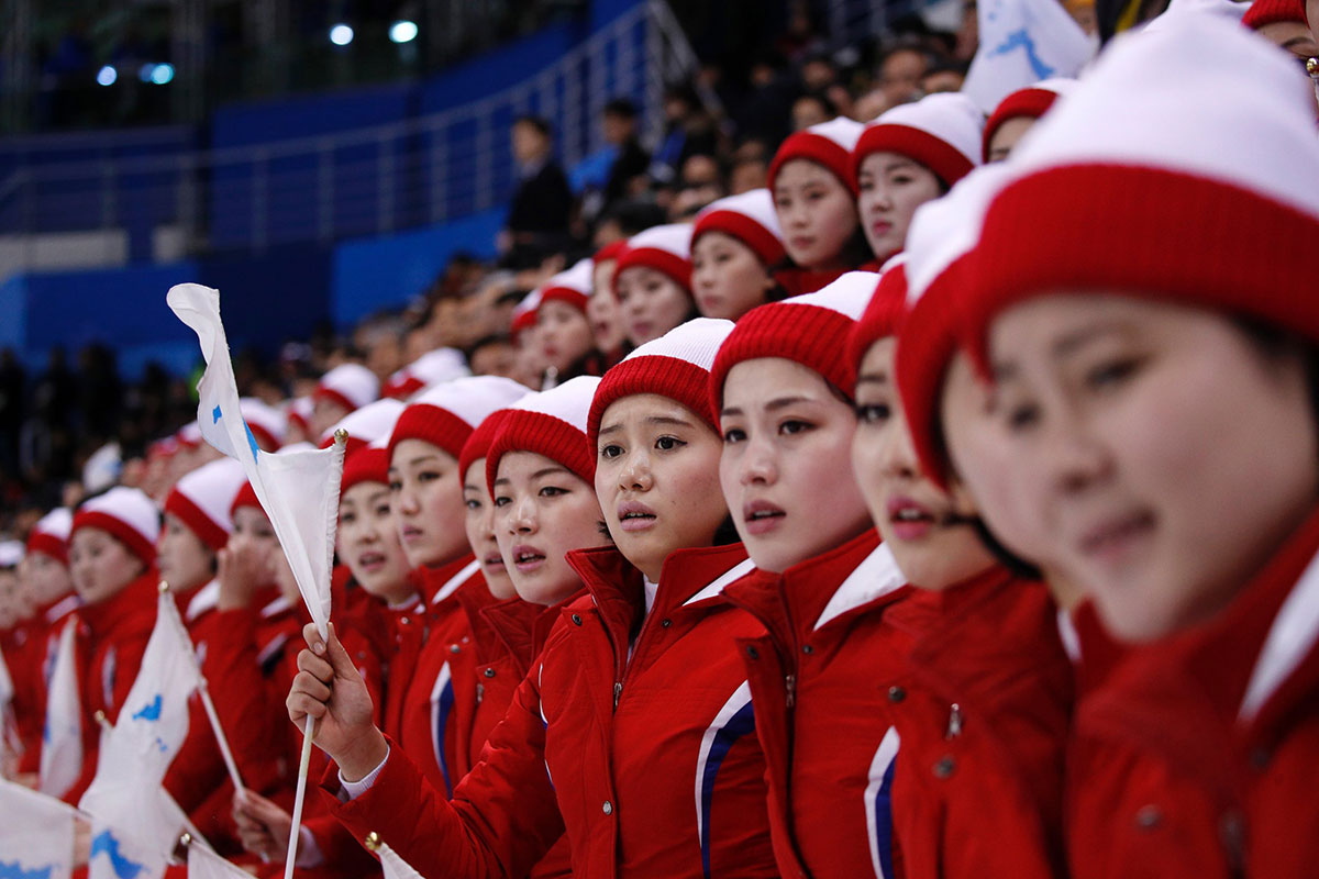 Severnokorejske navijačice na Olimpijadi, foto: The Associated Press