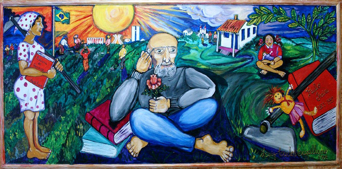 Paulo Freire, mural na centru za edukaciju, São Paulo