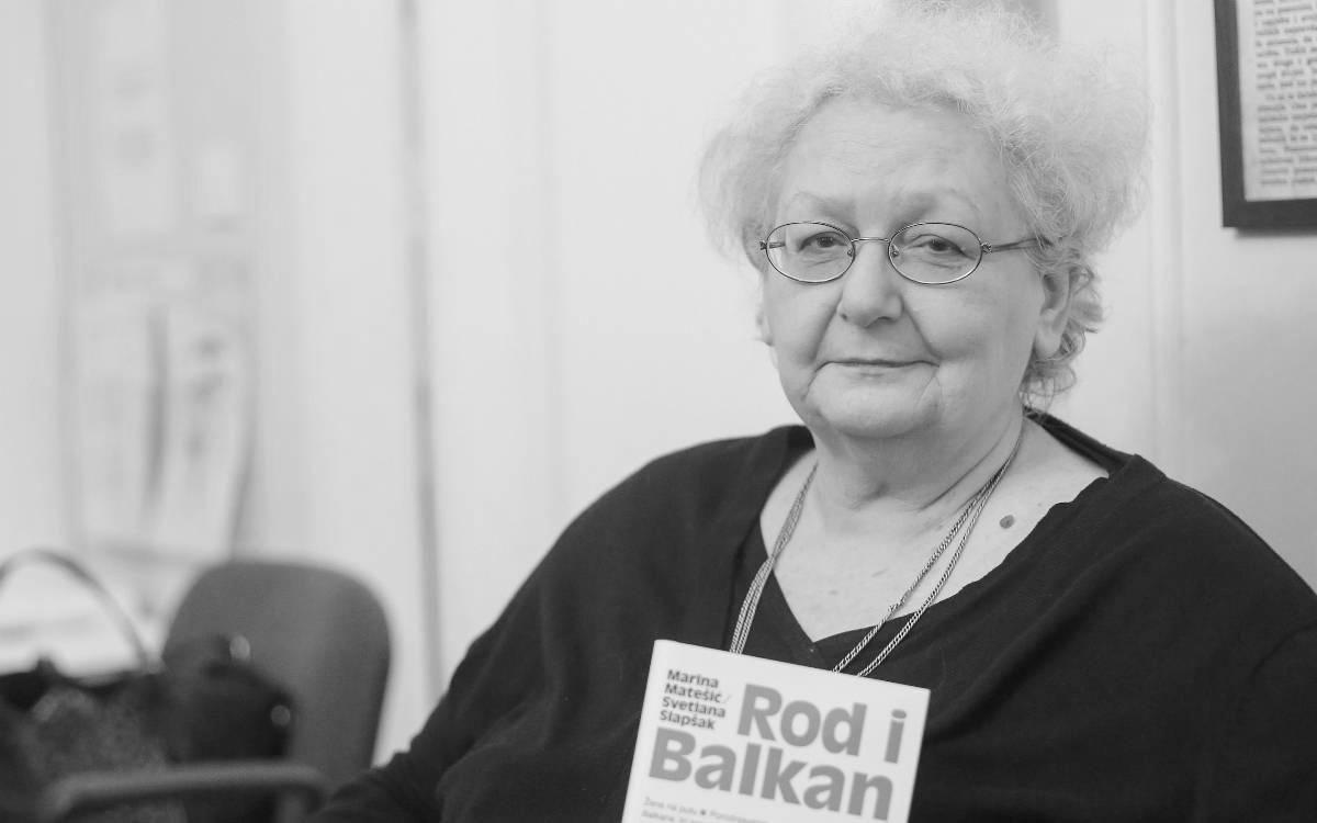Svetlana Slapšak, foto: Luka Stanzl/PIXSELL