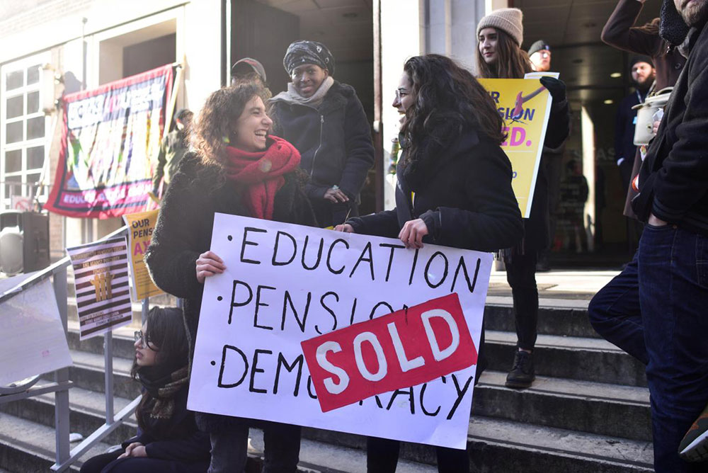 University of London, 22. februar, foto: Peter Summers/Reuters