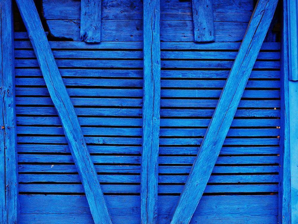 drvena plava vrata