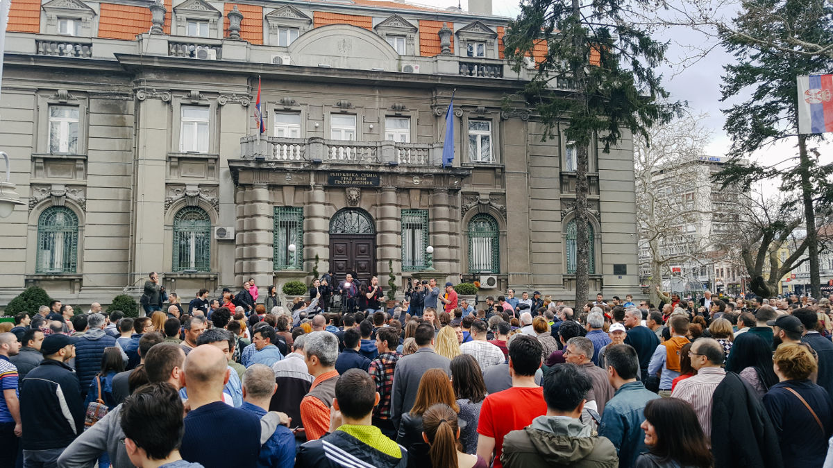 Protests in Nis, photo: Dj.R.