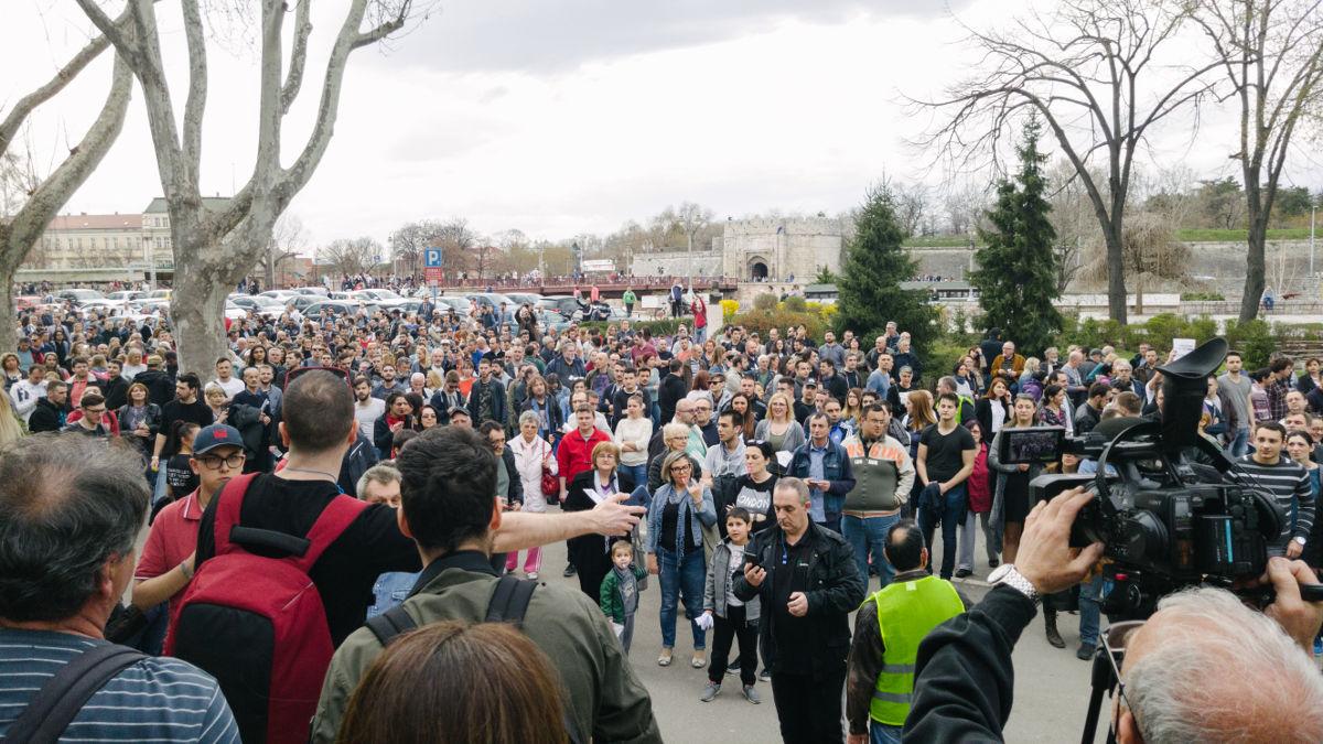Protesti u Nišu, foto: Đ.R.