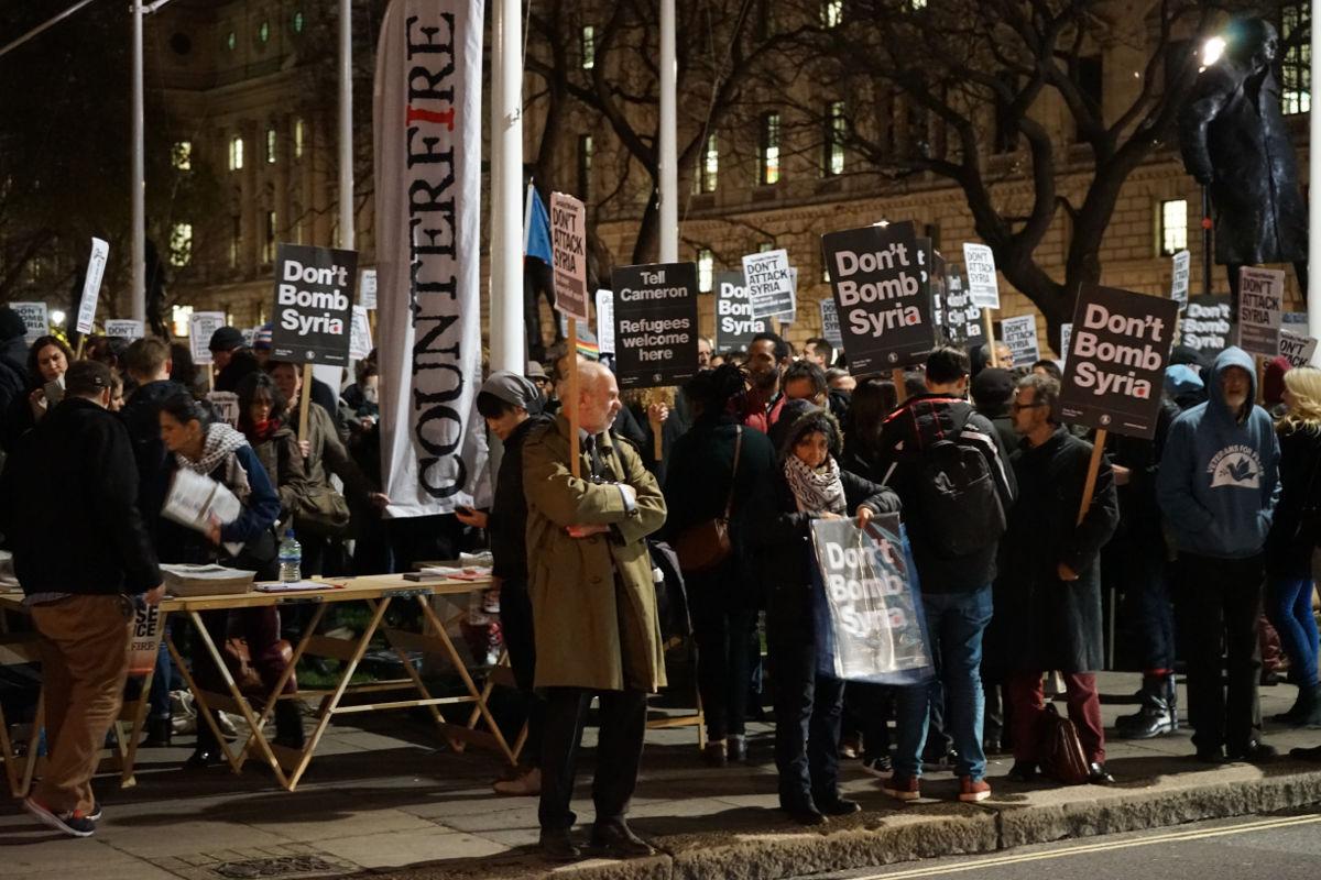 Antiratni protest u Londonu, 1.12.2015, foto: Neda Radulović-Viswanatha