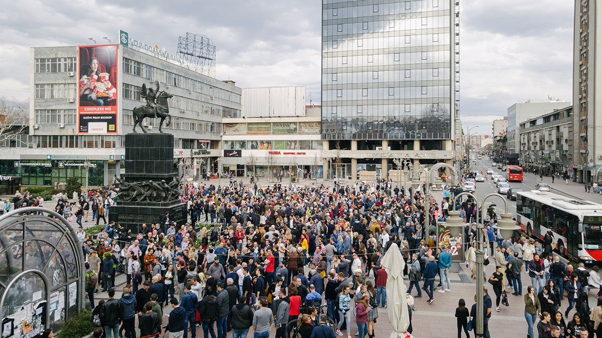 Protest u Nišu, foto: Đ.R.
