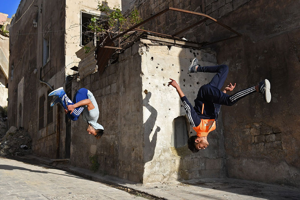 Parkour u Alepu, foto: George Ourfalian/AFP/Getty Images