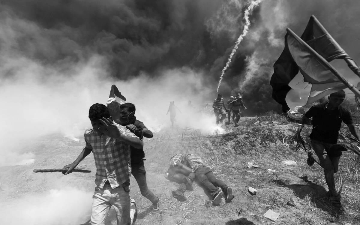 Prosvjed Palestinaca na granici Izraela i Gaze, foto: Ibraheem Abu Mustafa/Reuters/PIXSELL